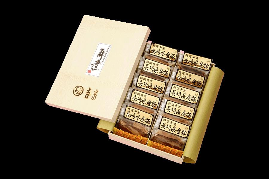 画像1: 長崎県産豚角煮(10個入) (1)