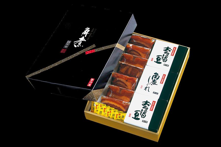 画像1: 角煮詰合せ(角煮7個+お多福豆・角煮しぐれ) (1)